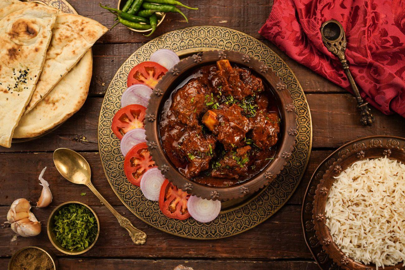 Mutton Roganjosh Restaurant Style   Mutton Curry