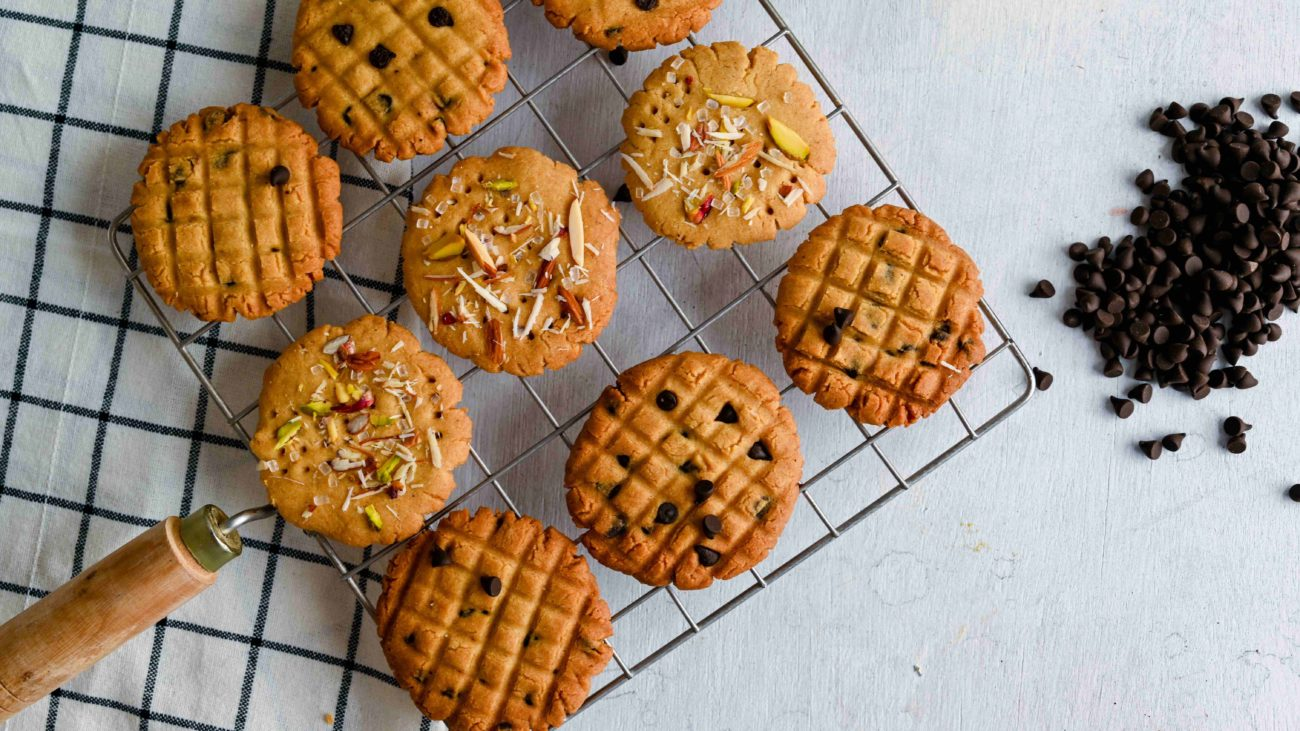 Atta Biscuits 2 ways (Without oven)